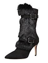 Для женщин Ботинки Модная обувь Формальная обувь Дерматин Зима Для праздника Для вечеринки / ужина Модная обувь Формальная обувь МолнииНа