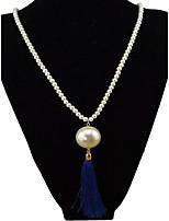 Жен. Ожерелья с подвесками Пряди Ожерелья Искусственный жемчуг Геометрической формы Искусственный жемчуг СплавБазовый дизайн Уникальный