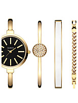 Women's Fashion Watch Bracelet Watch Quartz Water Resistant / Water Proof Alloy Band Gold