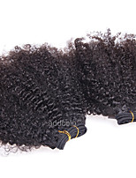 Mongolian Afro Kinky Curly Hair Weave Bundles 100% Nature Color Human Hair Extensions 1 Piece Remy Hair Products