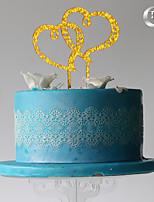 Украшения для торта Сердца Для вечеринок Пластмассовая сумка
