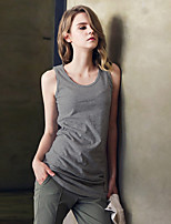 Women's Casual Sexy Simple Active Summer Tank Top,Solid Round Neck Sleeveless Rayon Thin