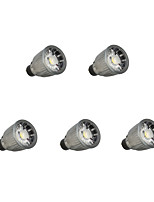 7W LED Spotlight 1 COB 780 lm Warm White Cool White Dimmable AC 110/220 V 5 pcs