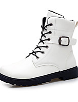 Men's Boots Comfort Leather Spring Fall Casual Outdoor Comfort Flat Heel Black White Walking Shoes