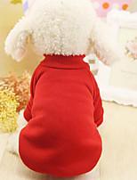 Собака Толстовка Одежда для собак На каждый день Сплошной цвет Черный Красный Синий Розовый