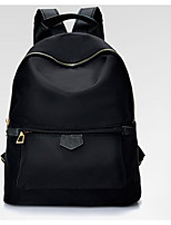 Women Backpack Oxford Cloth All Seasons Casual Round Zipper Black