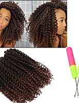 3pcs/pack Synthetic crochet braids 10inch jerry curly twist braiding hair ombre color pre looped savana kinky curly hair wave twist 2-3pack/head