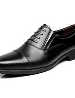 Men's Oxfords Formal Shoes Cowhide Spring Fall Office & Career Formal Shoes Black Under 1in