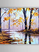 Peint à la main Paysage Format Horizontal,Abstrait Un Panneau Toile Peinture à l'huile Hang-peint For Décoration d'intérieur