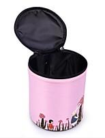 Women Storage Bag Nylon All Seasons Casual Barrel Zipper Gray Blushing Pink