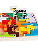 Costruzioni Gioco educativo Puzzle di legno per il regalo Costruzioni Quadrato 1-3 anni Giocattoli