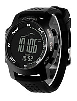 Men's Sport Watch Fashion Watch Digital Altimeter Compass Thermometer Water Resistant / Water Proof Pedometer Stopwatch Rubber Band Black