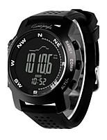 Муж. Спортивные часы Модные часы Цифровой Альтиметр Compass Термометр Защита от влаги Педометр Хронометр Pезина Группа Черный