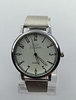 Herrn Kleideruhr Armbanduhr Quartz Metall Band Silber