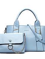 Women Bag Sets PU All Seasons Wedding Event/Party Casual Formal Office & Career Pillow Zipper Blue White Black Red Gray