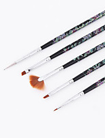 Printing Nail Art Brush Set 5PCS Fan-Shaped Brush Phototherapy Trainees Practice Oil Painting