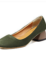 Damen Loafers & Slip-Ons Komfort PU Frühling Normal Komfort Schwarz Grün Mandelfarben 2,5 - 4,5 cm