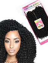 Tresses bouclés Crochet Bouclé Frisé Jerry Poil Synthétique Auburn Noir / Medium Auburn Noir / Bourgogne Brun Gris Extensions de cheveux