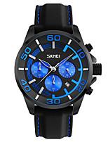 Skmei® Men's Dress Silicone Strap Quartz Wrist Watch 30m Waterproof Assorted Colors