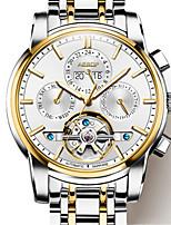 Per uomo Orologio alla moda orologio meccanico Carica automatica Resistente all'acqua Lega Banda Argento Oro Multicolore