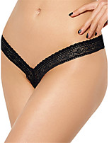 Femme Sexy Dentelle Solide strings & Tangas Sous-vêtements Ultra Sexy