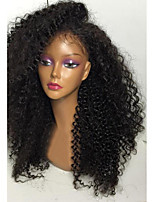 Hot Unprocessed Kinky Curly Lace Front Wig 150% Density Brazilian Human Hair Wigs With Baby Hair For Women