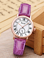 Women's Fashion Watch Unique Creative Watch Quartz Water Resistant / Water Proof Leather Band Brown Pink Purple