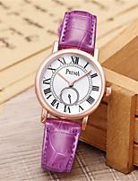 Per donna Orologio alla moda Creativo unico orologio Quarzo Resistente all'acqua Pelle Banda Marrone Rosa Viola