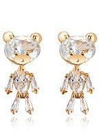 Women's Stud Earrings Fashion Classic Zircon Alloy Bear Jewelry For Wedding Party Engagement Gift Ceremony Evening Party