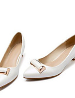 Women's Heels Basic Pump PU Spring Casual Gold White Blushing Pink 1in-1 3/4in