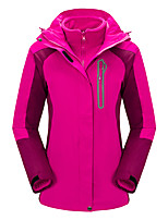 Women's 3-in-1 Jackets Waterproof Thermal / Warm Windproof Wearable Breathable Tops for Camping / Hiking Hunting Fishing Fall/Autumn S M