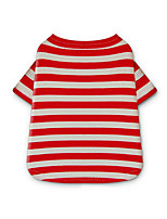 Dog Shirt / T-Shirt Dog Clothes Casual/Daily Stripe Yellow Red Blue