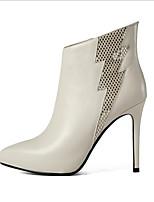 Damen High Heels Komfort Leder Sommer Normal Komfort Weiß Schwarz Rot 7,5 - 9,5 cm
