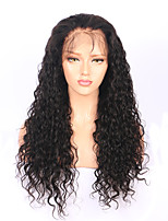 180% Density Natural Wave Brazilian Virgin Human Hair 360 Lace Frontal Wigs with Bleached Knots 8''-22'' 360 Lace Wigs with Baby Hair Natural Hairline