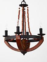 ארבעה ראשי הבציר ציור תכונה מיני עץ עץ / במבוק נברשת המנורה עבור הכניסה / סלון / חדר ילדים לקשט מנורה תליון