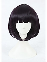 Scum's Wish Hanabi Yasuraoka Cosplay Wig 14inch Short Dark Purple Wig Synthetic Anime Hair Wig 323A