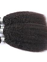 Ciocche a onde capelli veri Mongolo yaki 12 mesi 3 tesse capelli