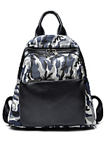 Women Backpack PU Canvas All Seasons Formal Casual Traveling Leisure Sports Office & Career Shopping Bucket Zipper Green BlueWaterproof