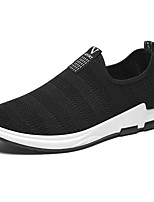 Men's Sneakers Light Soles Spring Fall Knit Casual Outdoor Flat Heel Black Gray Blue Flat