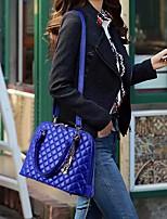 Women Bag Sets PU All Seasons Casual Outdoor Round Zipper Black Gold Blue