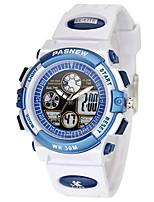 Kid's Sport Watch Digital Water Resistant / Water Proof Rubber Band White Blue Pink