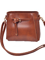 Women Tote PU All Seasons Event/Party Casual Formal Office & Career Barrel Zipper Brown Black