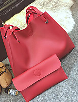 Women Shoulder Bag PU All Seasons Casual Outdoor Round Zipper Gray Blushing Pink Red