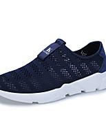 Для мужчин Мокасины и Свитер Удобная обувь Тюль Лето Повседневные Для прогулок На плоской подошве Черный Синий 4,5 - 7 см
