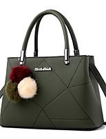 Women Shoulder Bag PU All Seasons Casual Office & Career Baguette Zipper Wine Military Green Blushing Pink