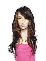 Capless Long Wavy Synthetic Fiber Wig Black Women Wig