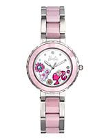 Жен. Модные часы Кварцевый Нержавеющая сталь Группа Розовый