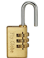 FQ-330 Password Padlock Copper 3-Digit Password Bags Locking Locking Carrier Padlock Full Copper Password Bags Lock Dail Lock Password Lock