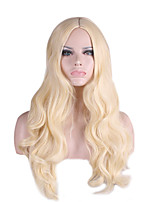Synthetic Natural Wigs Curly Long Blonde Wigs for Women Costume Wigs Capless Wigs