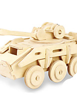 Jigsaw Puzzles DIY KIT 3D Puzzles Metal Puzzles Building Blocks DIY Toys Tank Natural Wood